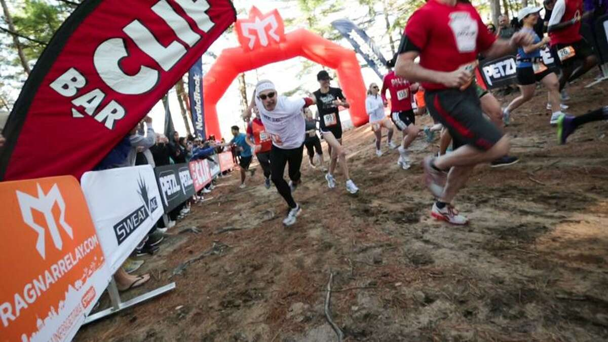 Contributed photo: Jeff Rowe was in full zombie mode at the start of the relay race.