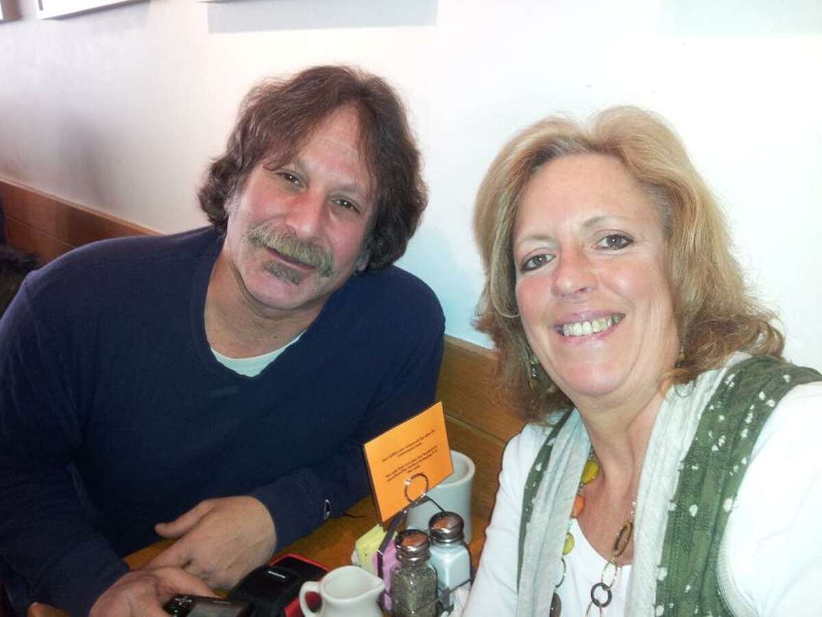 Contributed photo: Lorrie Lawlor of North Branford and David Crespo of Hamden met at Atticus Bookstore-Cafe in New Haven.