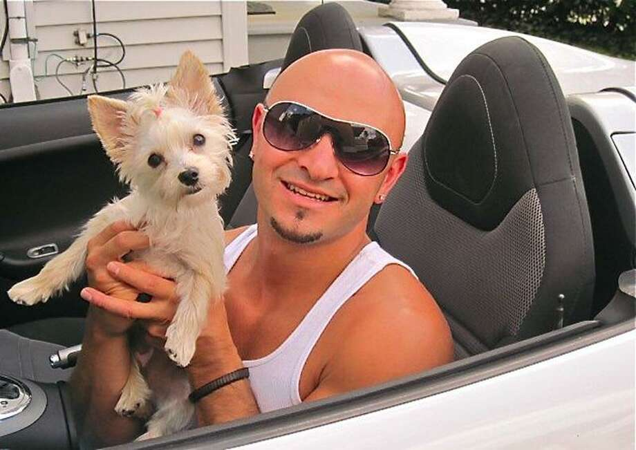 Andrew Baklik and Pebbles, a Maltese and Yorkshire mix, are a winning pair.