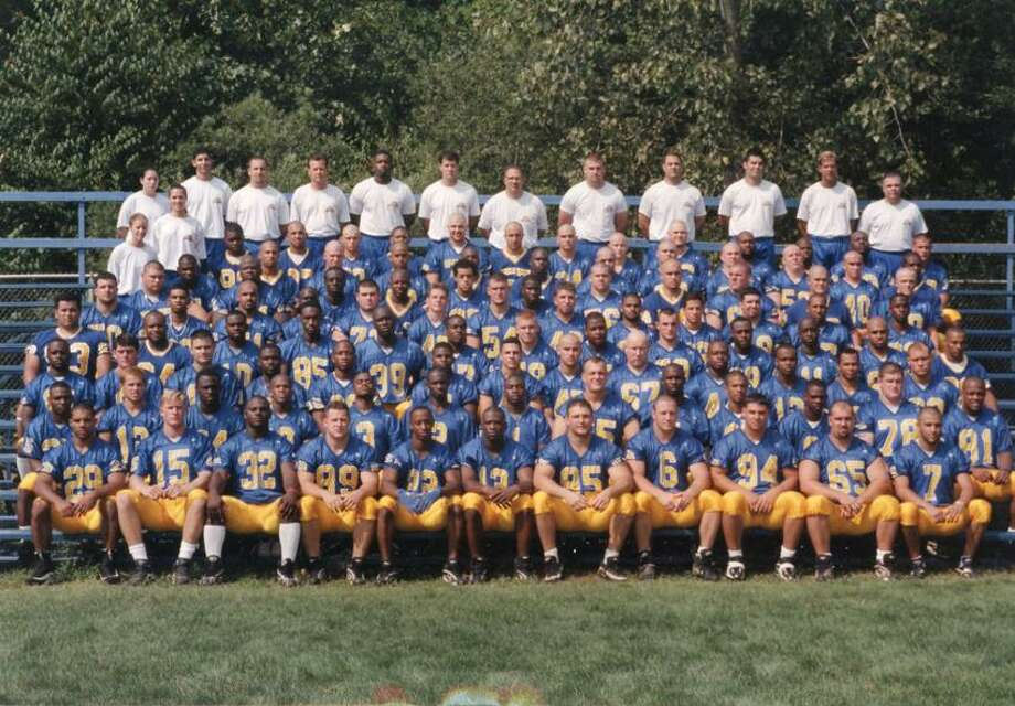(Photo courtesy of the University of New Haven) The 1997 New Haven football team that reached the Division II national championship game.