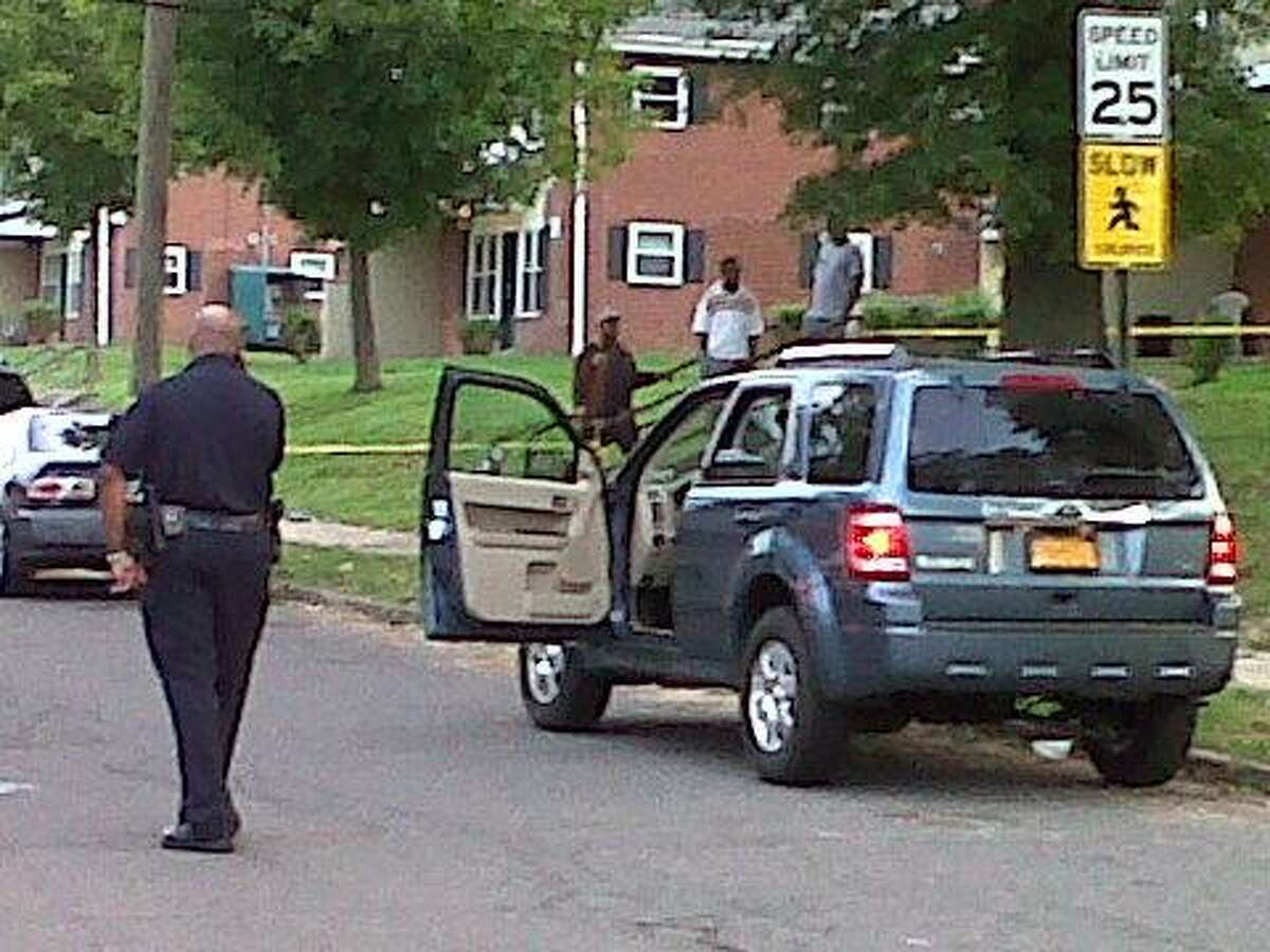 Police focused their attention on this vehicle after a man was shot Saturday Photo by William Kaempffer