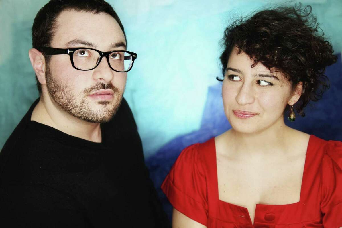 This image courtesy of Mindy Tucker shows comedians Eliot, left, and Ilana Glazer as they pose for a photograph in New York. A video the siblings created about the things New Yorkers say has gone viral in the few days it's been posted, attracting lots of opinions of what New Yorkers do and don't say. (AP Photo/Mindy Tucker)