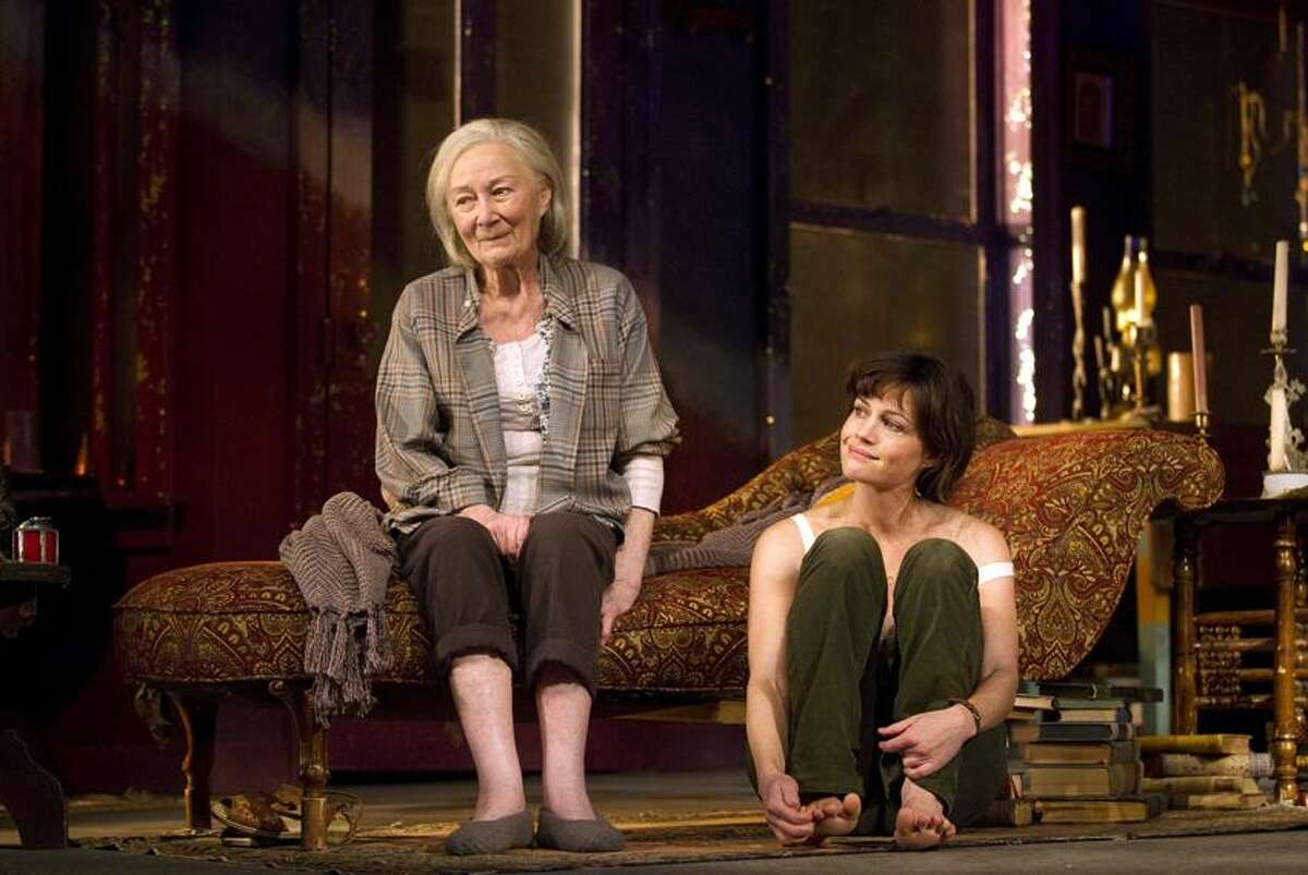Associated Press/Joan Marcus Rosemary Harris, left, and Carla Gugino in a scene from Broadway's
