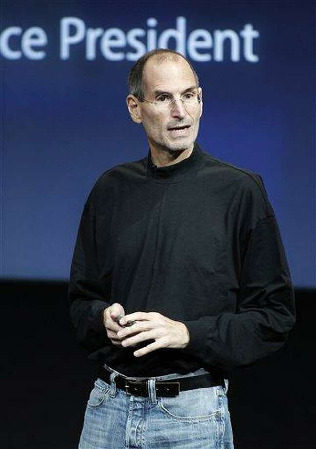 In an Oct. 20, 2010 file photo, Apple CEO Steve Jobs speaks at an Apple event at Apple headquarters in Cupertino, Calif. Jobs sent a note Monday, Jan. 17, 2011 to employees saying he's taking a medical leave of absence so he can focus on his health. He says he will continue as CEO and be involved in major decisions but has asked Tim Cook to be responsible for all day-to-day operations.(AP Photo/Tony Avelar, File) Photo: ASSOCIATED PRESS / AP2010