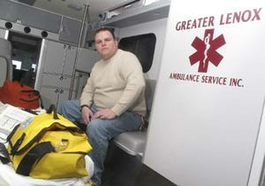 Photo by JOHN HAEGER Greater Lenox Ambulance Service volunteer Stephen Pino is being honored by the Canastota Area Association of Churches Saturday at the 31st annual Volunteer Appreciation Dinner.