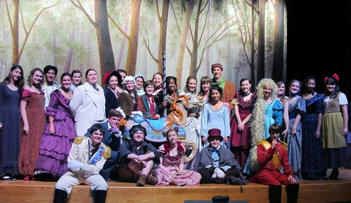 """Lauralton Hall students will perform """"Into the Woods"""" at 7 p.m. tonight and 2:30 p.m. Sunday at the Parsons Center in Milford."""