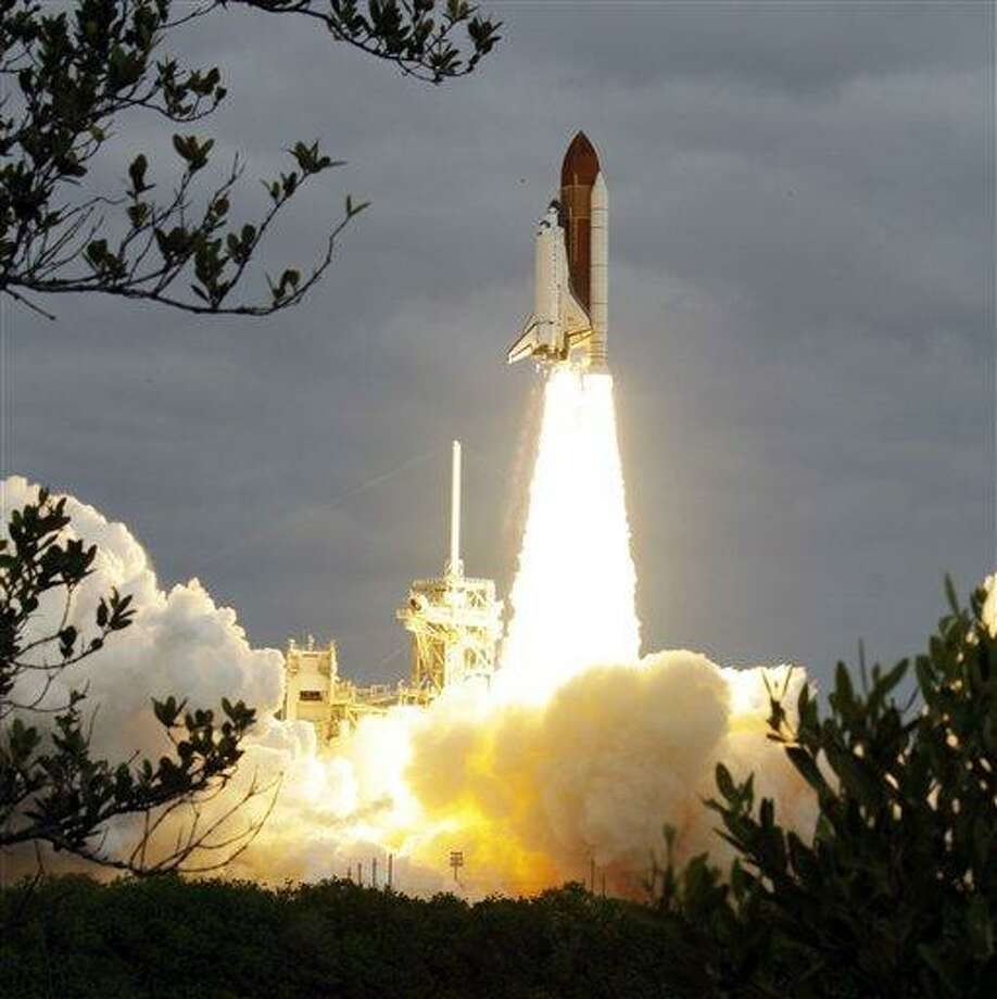 The space shuttle Endeavour lifts off from Kennedy Space Center in Cape Canaveral, Fla., Monday, May 16, 2011. The space shuttle Endeavour began a 14-day mission to the international space station. (AP Photo/Chris O'Meara) Photo: AP / AP