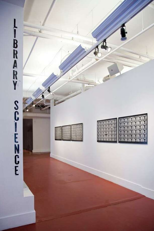 """Artspace photo: A view of the Artspace gallery show """"Library Science."""""""