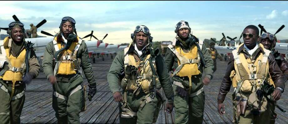 "20th Century Fox: ""Red Tails"" cast includes David Oyelowo, left, Elijah Kelley, Leslie Odom Jr., Michael B. Jordan, Nate Parker and Kevin Phillips. Photo: AP / © Lucasfilm Ltd. and TM. All Rights Reserved."