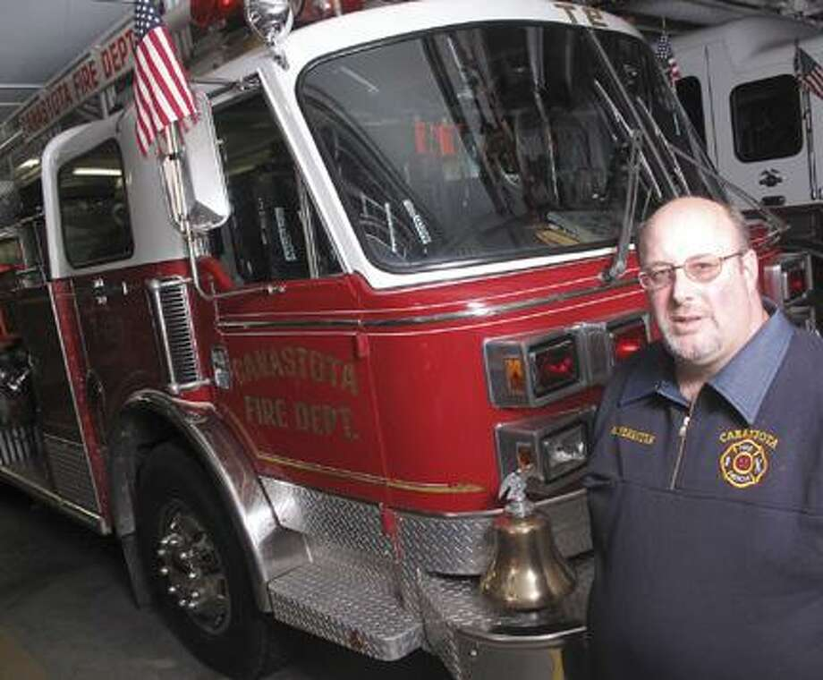 Dispatch Staff Photo by JOHN HAEGERMark Ferriter of the Canastota Fire Department on Wednesday, Jan. 12, 2011.