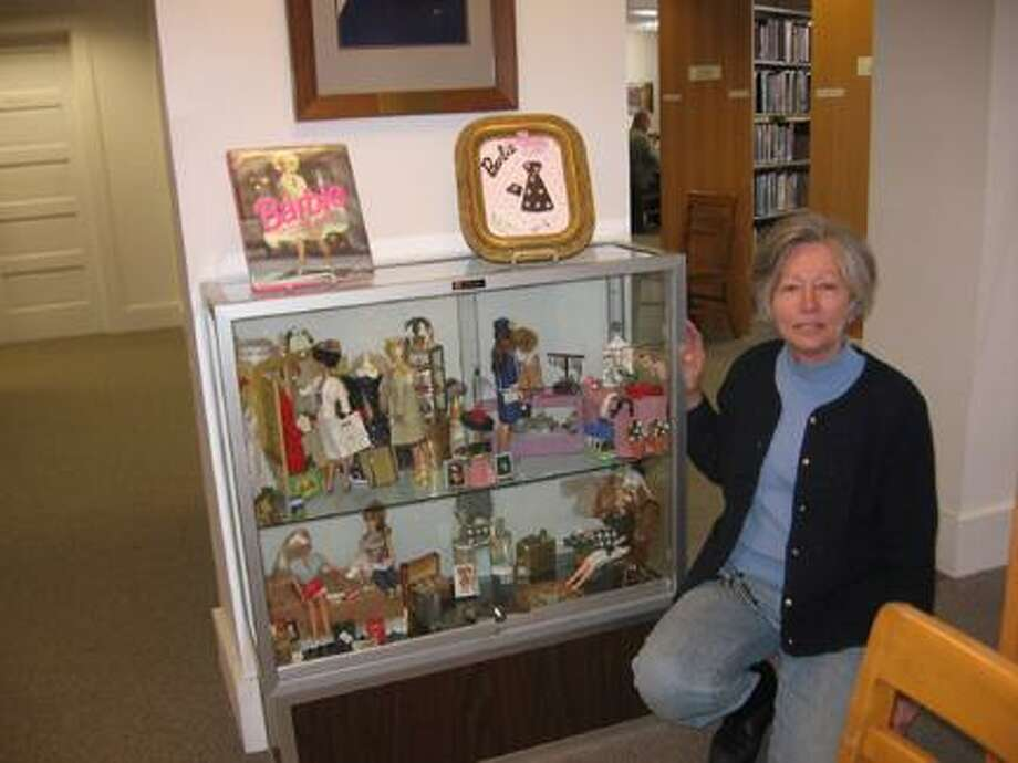 SUBMITTED PHOTO Ruth Ransel of Hamilton enjoys making miniature accessories for her Barbie doll collection, and she is currently sharing her crafty talents in an exhibit at the Hamilton Public Library. Ransel's Barbie world will be on display through the end of January.