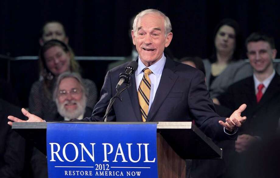 U.S. Rep. Ron Paul, R-Texas, speaks in Exeter, N.H., Friday after announcing he'll seek the GOP nomination for president. Associated Press Photo: AP / AP