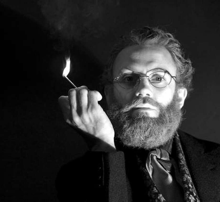"Dana Astmann photo: Ryan Gardner plays Ebenezer Beecher in ""Play with Matches."""