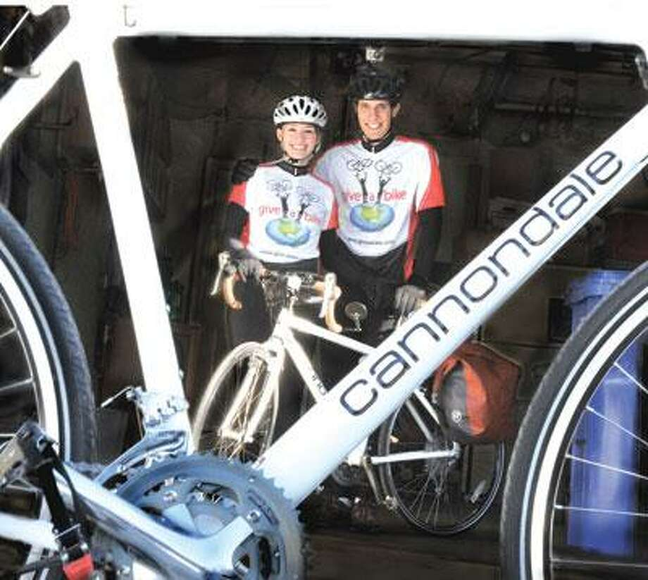 Christy and Adam Coppola are set to embark on a yearlong bike tour for charity. (Melanie Stengel/Register)