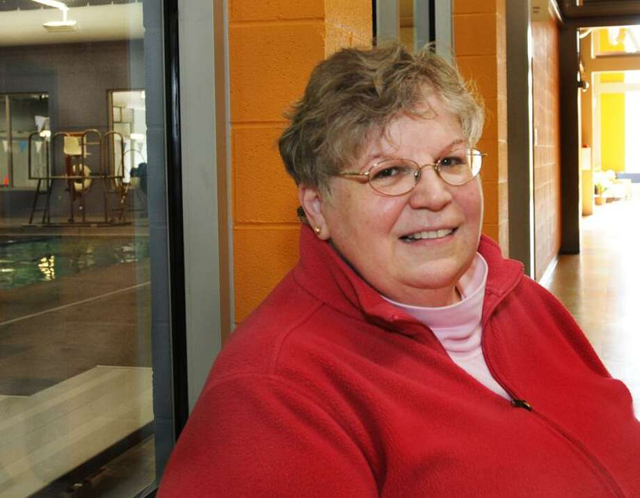Gail Benson, of Madison, has kept her New Year's resolution to swim three times a week.    Melanie Stengel/Register