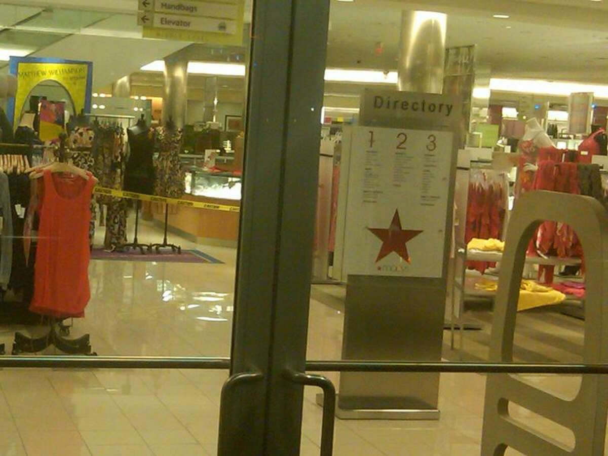An armed robber smashed a jewelry case and stole several rings late Monday from Macy's at the Westfield Connecticut Post mall, prompting a lockdown. Patroons were allowed to leave the mall about 11 p.m. (William Kaempffer)
