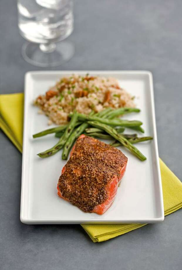 Ken Burris/EatingWell photo: Smoky Maple-Mustard Salmon Photo: Ken Burris/EatingWell