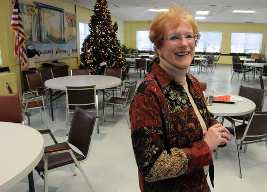 Joanne Byrne is retiring from her position as senior services coordinator at the High Plains Community Center in Orange. Photo by Mara Lavitt/New Haven Register12/29/10