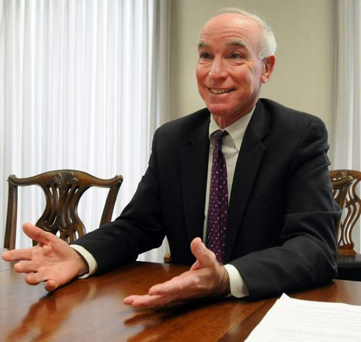U.S. Rep. Joe Courtney, Democrat representing Connecticut's Second Congressional District, during an interview with the New Haven Register Editorial Board at the New Haven Register. Photo by Peter Hvizdak / New Haven Register