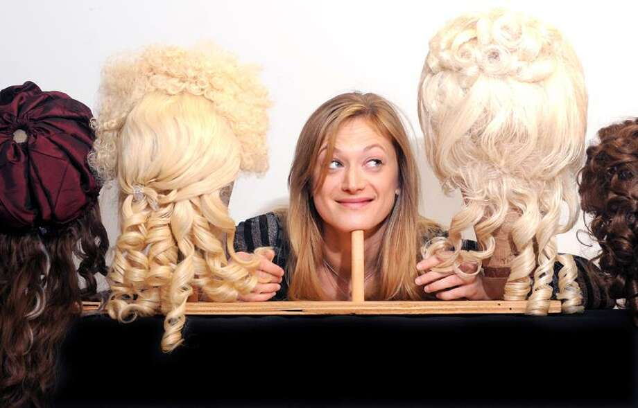 """Peter Hvizdak/Register photo: The wigs have their place for actress Marin Ireland, who plays the title role in Yale Rep's """"Marie Antoinette,"""" opening Friday. Photo: New Haven Register / ©Peter Hvizdak /  New Haven Register"""