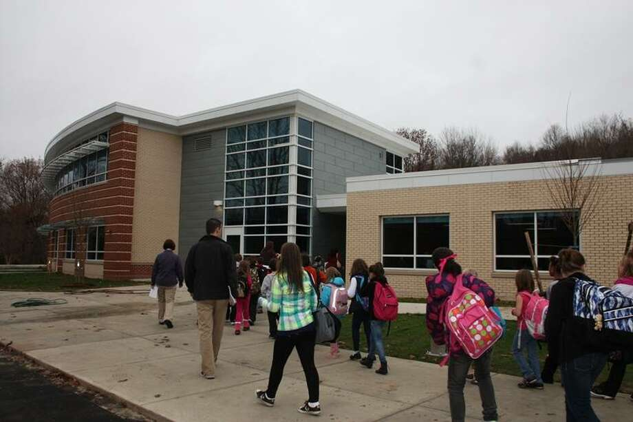 Chatfield students head for their new classroom wing. Jean Falbo-Sosnovich/For the Register.