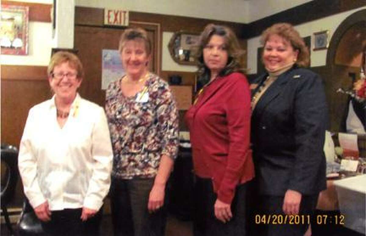 Photo Courtesy of Zonta Club of the Oneida AreaThe Zonta Club of the Oneida Area inducted three new members at their April 20 meeting. The newly inducted members are from left: Janet McMahon, DO, Melanie DuChene and Kathie Nowell. Candace Edwards, Area 2 Director from the Syracuse area, participated in the ceremony.