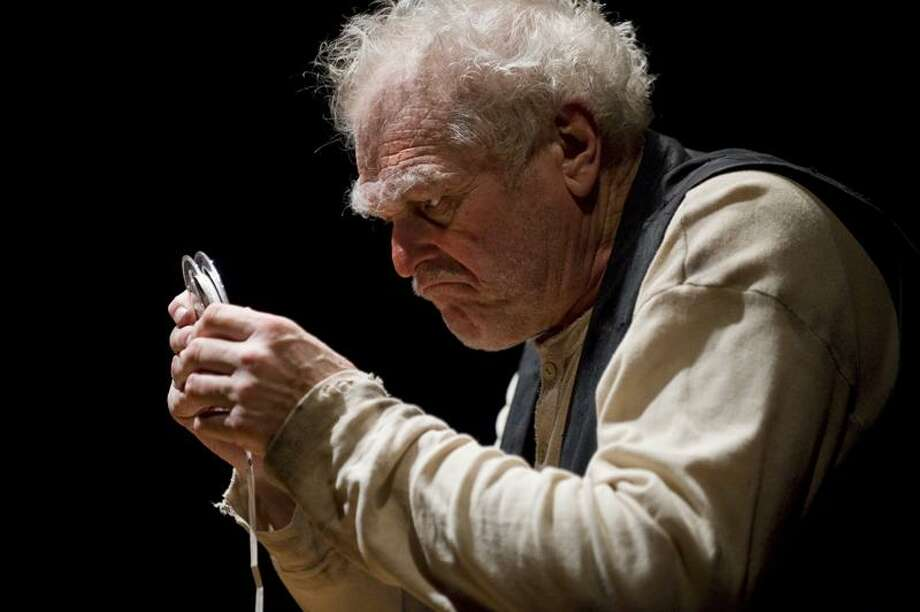 "Richard Hein: Brian Dennehy, here in the Goodman Theater production, is back at Long Wharf in a special presentation of Samuel Beckett's one-man play ""Krapp's Last Tape."" /       © Richard Hein"