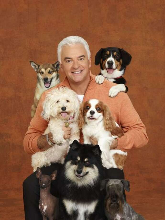 THE NATIONAL DOG SHOW PRESENTED BY PURINA -- Season:10 -- Pictured: John O'Hurley, orginally from West Hartford, and friends. / © NBCUniversal, Inc.