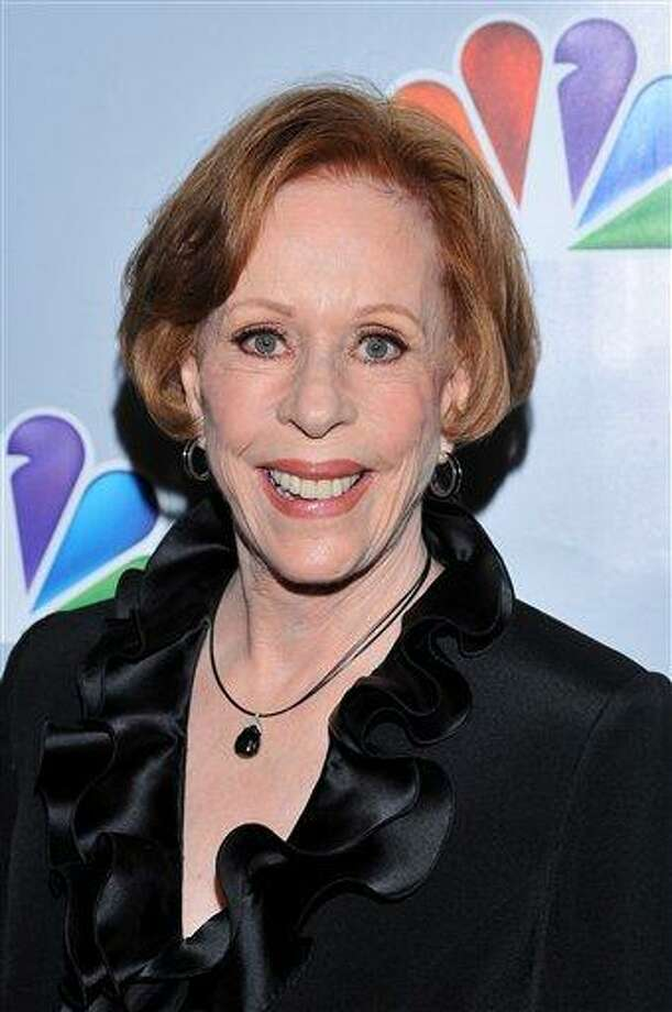 """Actress Carol Burnett arrives at the taping of """"Betty White's 90th Birthday: A Tribute To America's Golden Girl"""" Sunday in Los Angeles. The show will air on NBC  Jan. 16. Associated Press Photo: AP / ."""