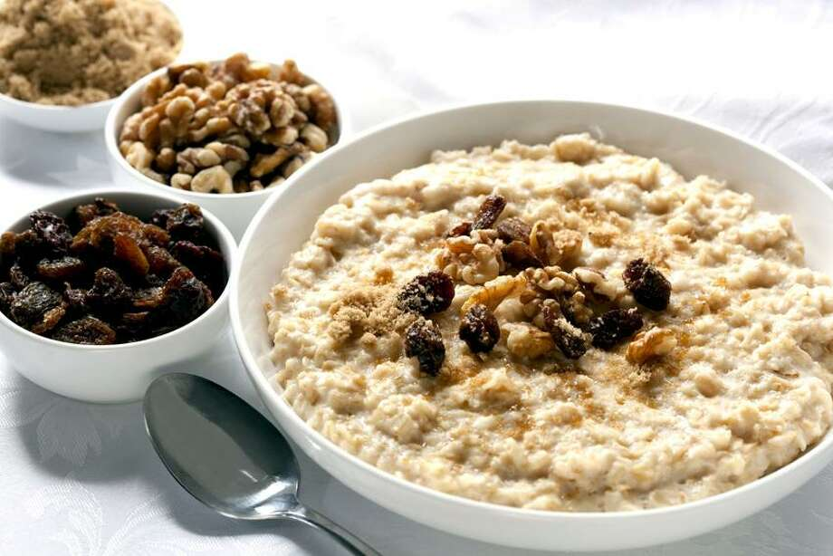 Tribune Media Services photo: Maple Oatmeal With Dried Fruit and Granola / © 2010 Robyn Mackenzie