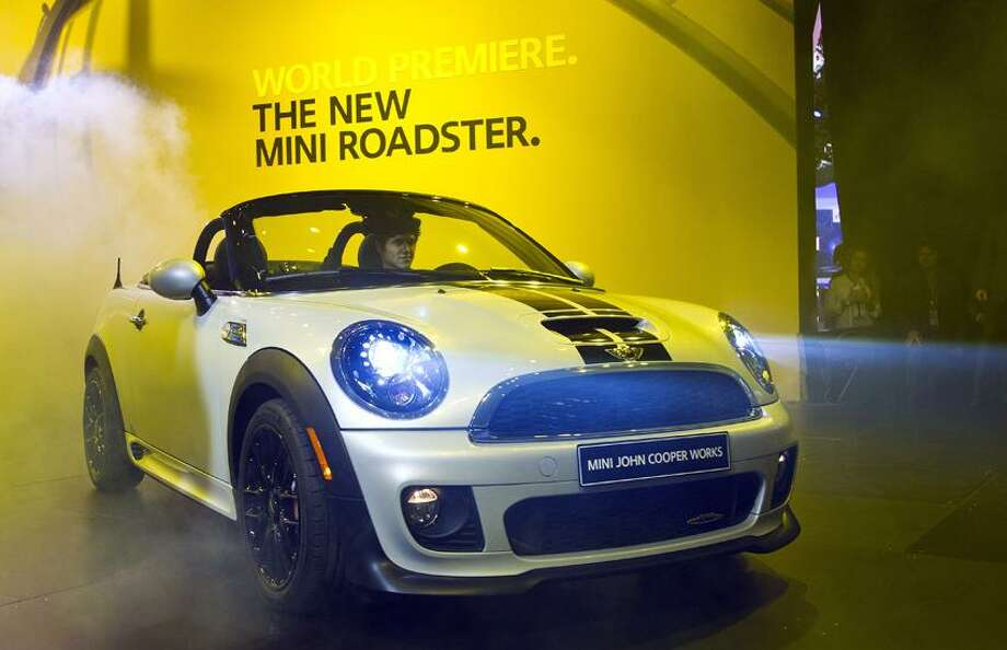 The new 2013 MINI Roadster was unveiled at the North American International Auto Show Monday in Detroit, Mich. (Associated Press) Photo: AP / © ASSOCIATED PRESS