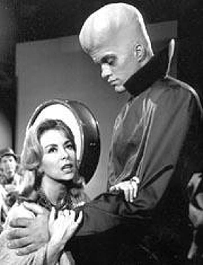 "The episode ""To Serve Man"" on Syfy's ""Twilight Zone"" marathon (see below). We'd tell you what the woman is saying, but it's the shocker ending of the story."