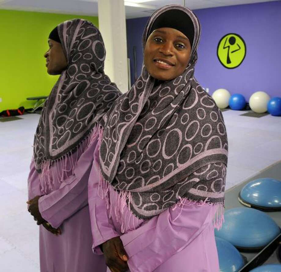 Mubarakah Ibrahim at her business, Balance Fitness in New Haven. Ibrahim is concerned about meal alternatives for New Haven schoolchildren. Mara Lavitt/Register