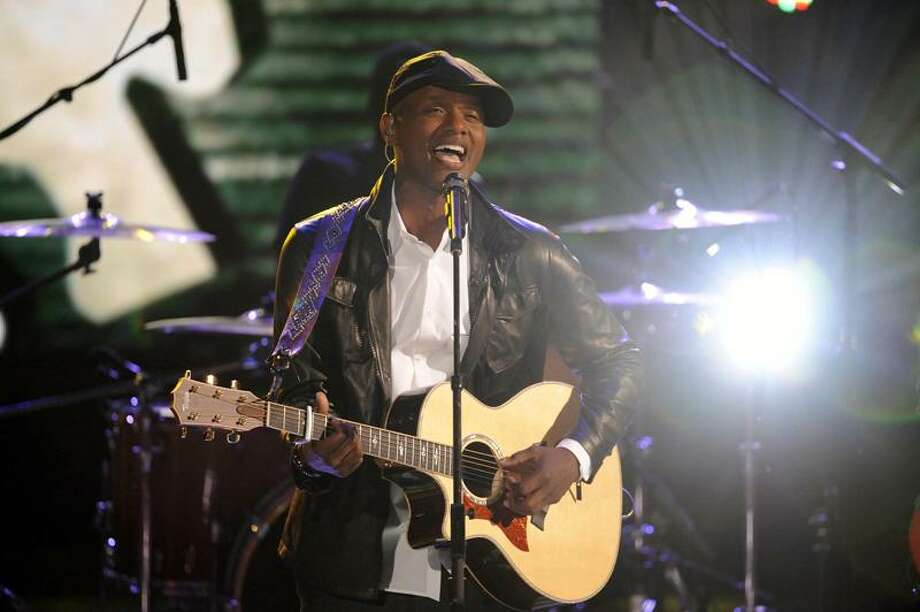 "In this June 28, 2011 photo, Javier Colon performs on ""The Voice"" in Los Angeles. (AP Photo/NBC, Lewis Jacobs) Photo: AP / ? NBCUniversal, Inc."