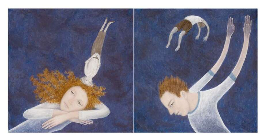 """Photo courtesy of the artist: """"I Will Be Young,"""" oil diptych by Kristina Kuester-Witt."""