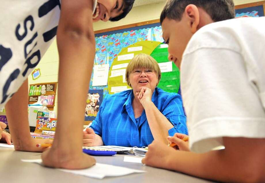"""Brad Horrigan/Register photo: Teacher Jan Doyle of Savin Rock Community School in West Haven retired after 37 years on the job at the close of the school year. She writes a blog for the Register's Community Media Lab at <a href=""""http://www.newhavenregister.com"""">www.newhavenregister.com</a>."""