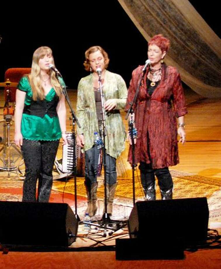 Submitted Photo From left, Aly Paige, Kathleen Weber and Nancy Josephson, also known as Angel Band, will return to the Kirkland Art Center Coffeehouse on Friday.