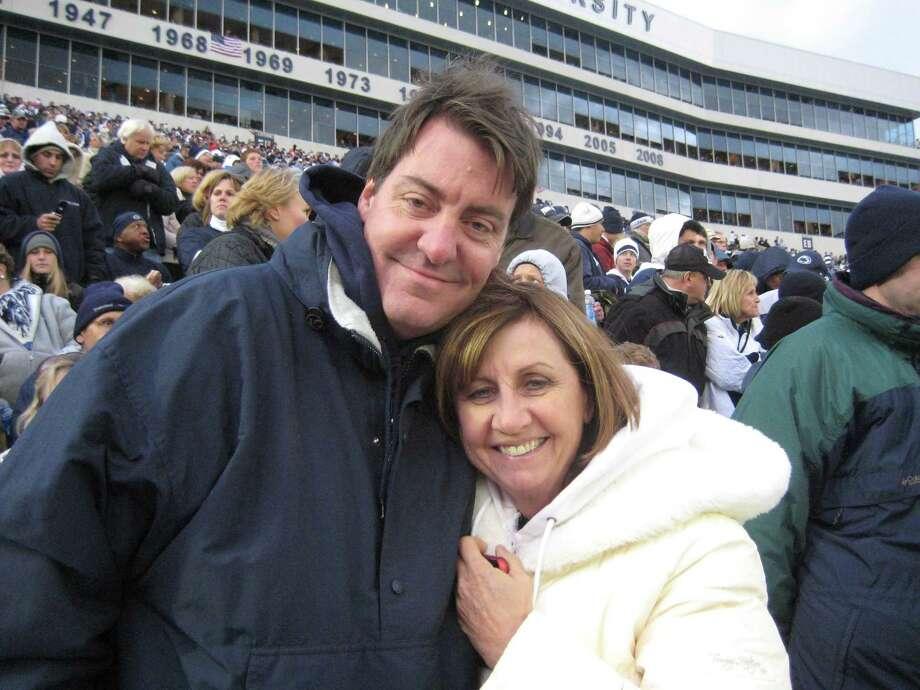 Mark Brackenbury and his wife, Paula Brackenbury, at a game
