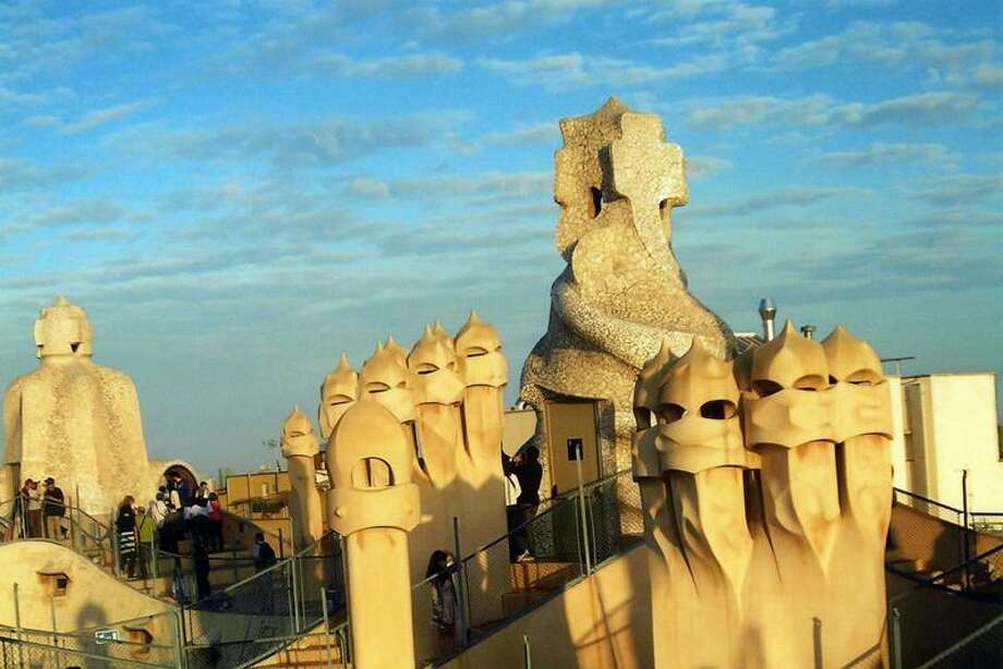 """Jean Cherni photo: Antoni Gaudi's La Pedrera in Barcelona is said to have been the inspiration for the stormtroopers in """"Star Wars."""""""