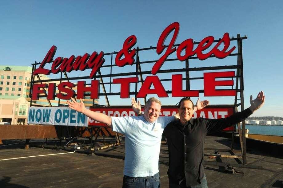 Brian Faye, left, and Art Linares, owners of Lenny & Joe's Fish Tale on Long Wharf Drive in New Haven, Connecticut. Thursday, November 29, 2012    Photo by Peter Hvizdak / New Haven Register Photo: New Haven Register / ©Peter Hvizdak /  New Haven Register