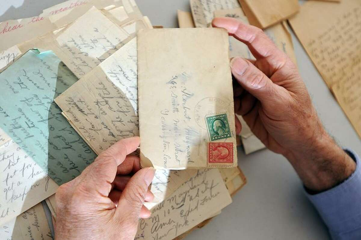 Guilford's Rick Maynard and his family recently found a cache of letters from his great-uncle, Paul H. Maynard, who wrote home telling of his experiences in the trenches of France during WWI. Peter Casolino/Register