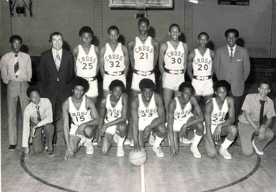 The 1973-74 Wilbur Cross boys' basketball team. (Register file photo)