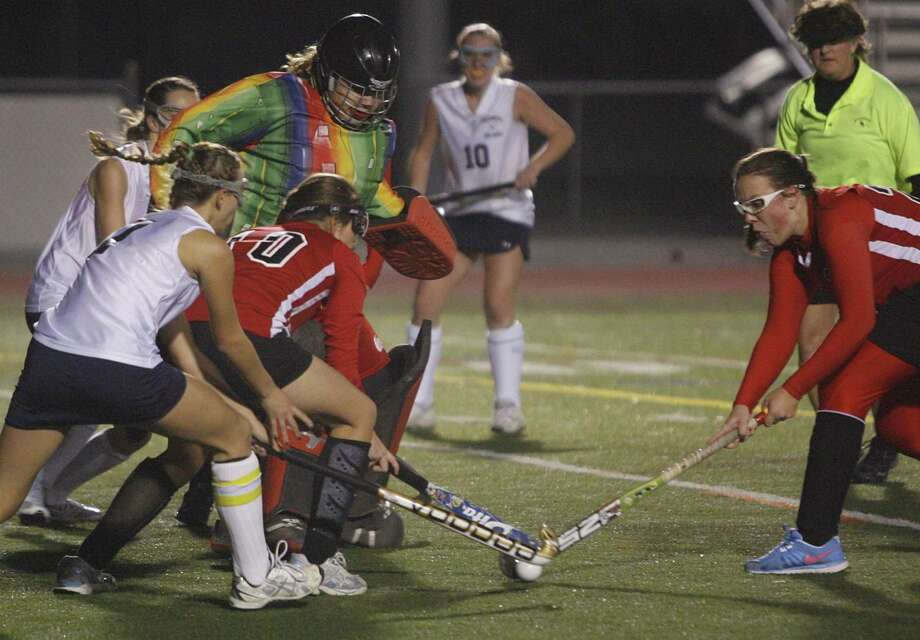"Dispatch Staff Photo by JOHN HAEGER <a href=""http://twitter.com/oneidaphoto"">twitter.com/oneidaphoto</a>  Morrisville-Eaton goalie Jesse Woodruff makes a save in the first half of the Class C/D playoff game against Cazenovia on Tuesday, Nov. 8, 2011 in Rome. Woodruff made 13 saves, but Cazenovia won 2-1 in overtime"