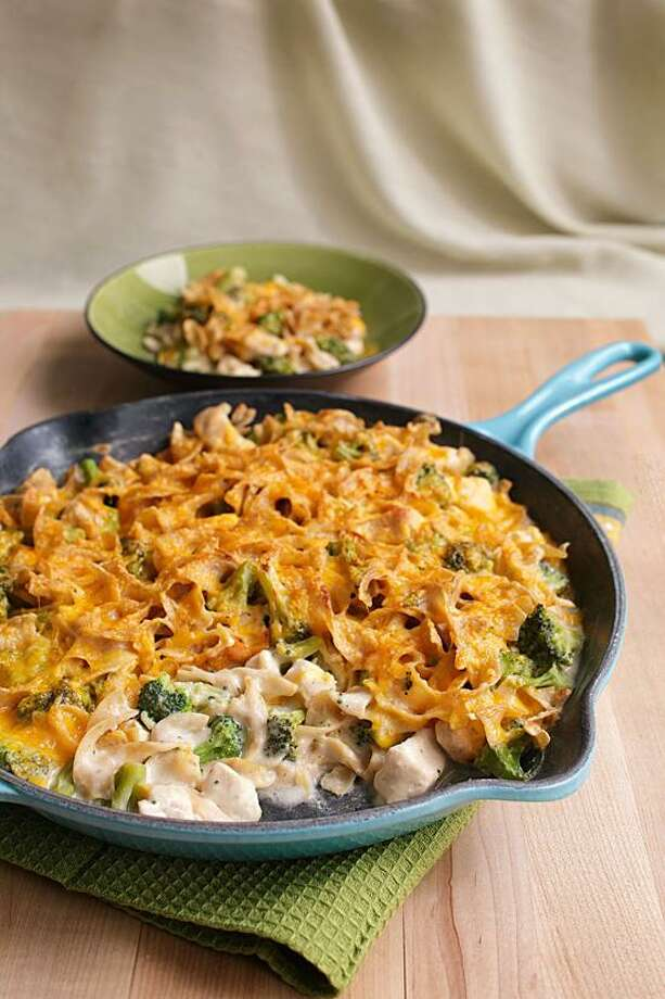 Ken Burris/EatingWell photo: Stovetop Chicken and Broccoli Casserole Photo: Ken Burris/EatingWell / Reuse Rights Limited. Contact Meredith Corporation for more information.