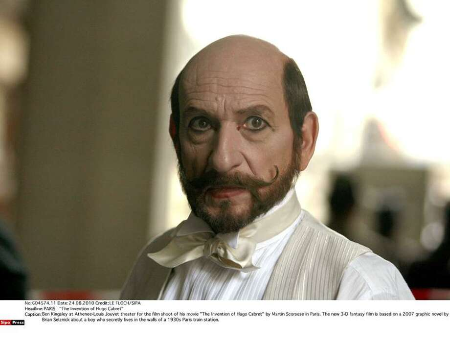 """Associated Press photo: Better to skip """"The Muppets"""" and catch Ben Kingsley, shown here in a scene from """"Hugo,"""" Martin Scorsese's first PG-rated film in 18 years. Photo: Associated Press / Sipa2010"""
