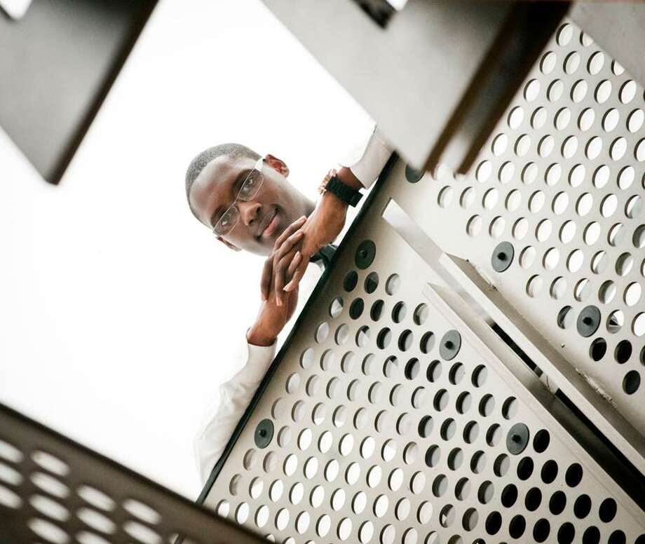Galen Wilson is the first African-American student council president at Metro Business Academy.   Melanie Stengel/Register