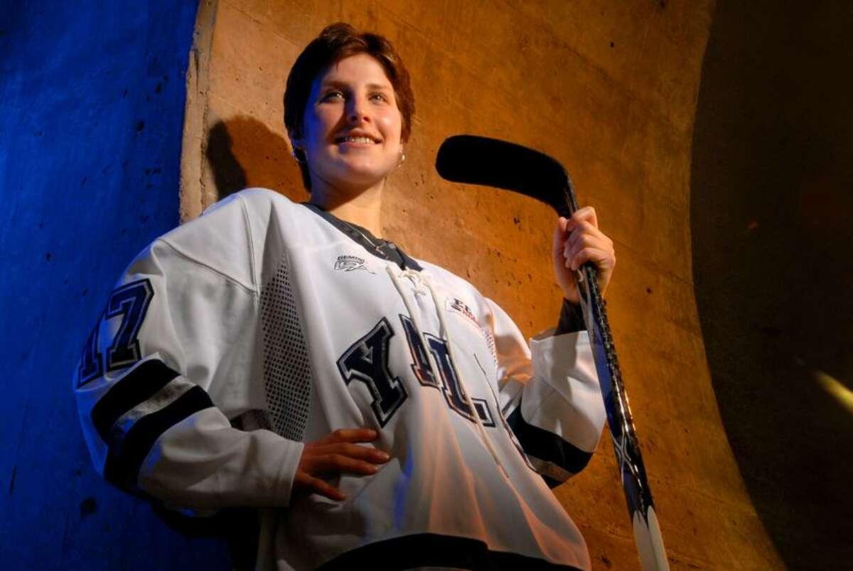 Peter Hvizdak/Register Former Yale hockey player Mandi Schwartz.