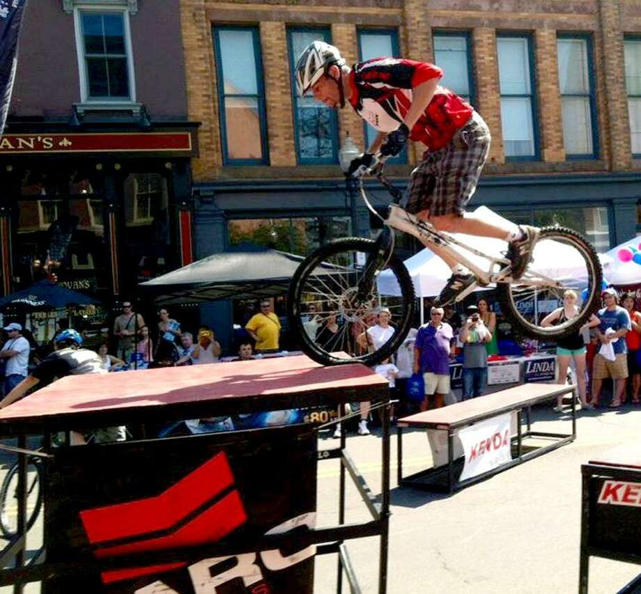 Contributed photo: Bicycle pro Joe Janicki will be performing stunts indoors.