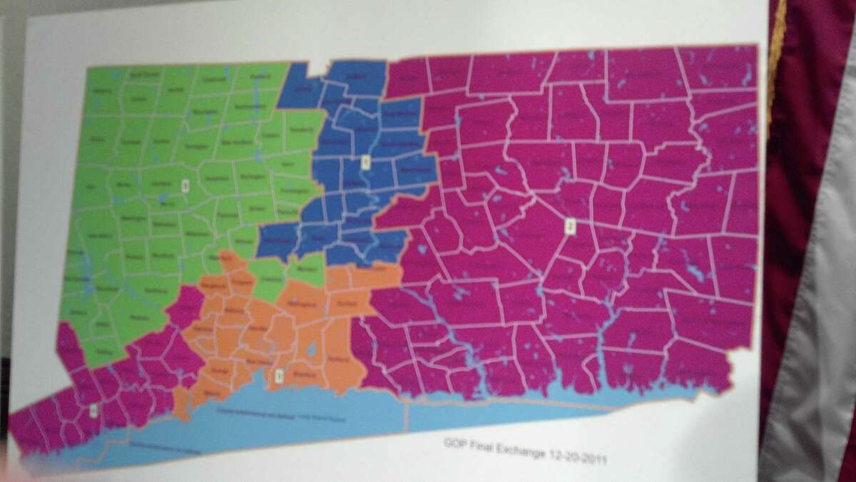 The final GOP proposal would have kept Bridgeport and Danbury where they were, but moved New Britain into the 1st district Photo by Jordan Fenster