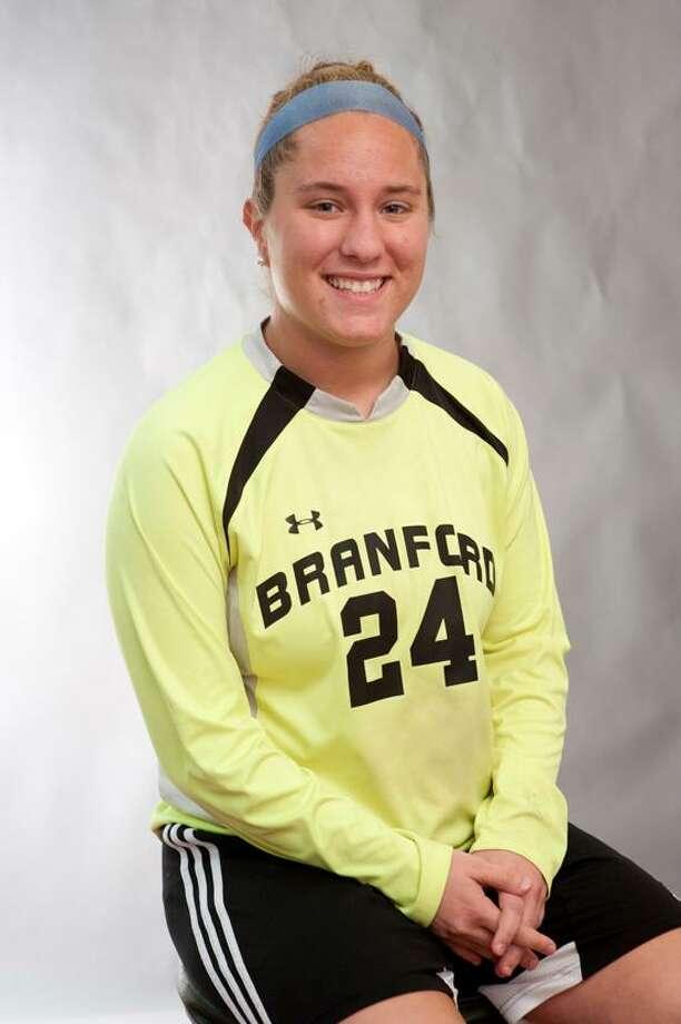 Female Athlete of the Week: Rebecca Vitale, Branford soccer. Photo by vM Williams/Register.